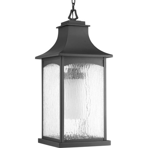 Selby Black One-Light Outdoor Pendant