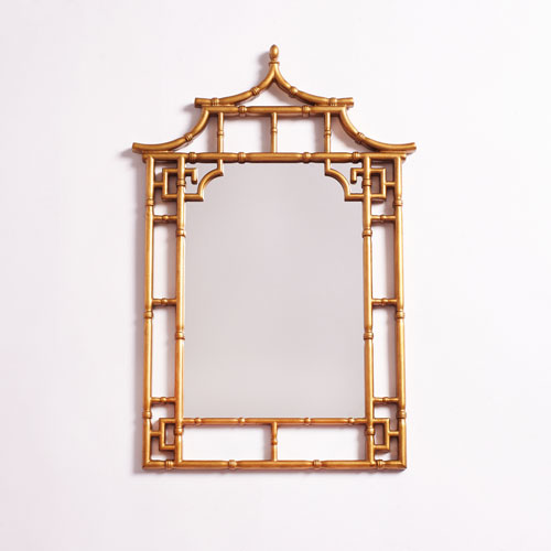 251 First Camden Gold Pagoda Mirror