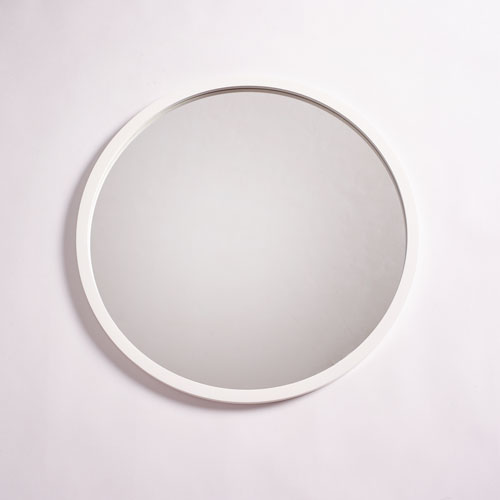 251 First Camden White 28-Inch Circular Mirror