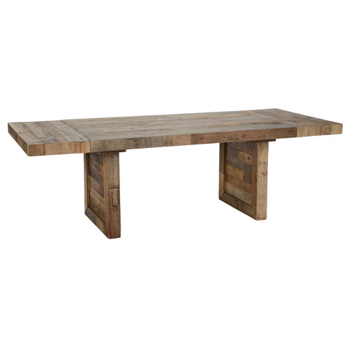 Natalie Distressed Natural Reclaimed Pine 95 In. Ext Dining Table