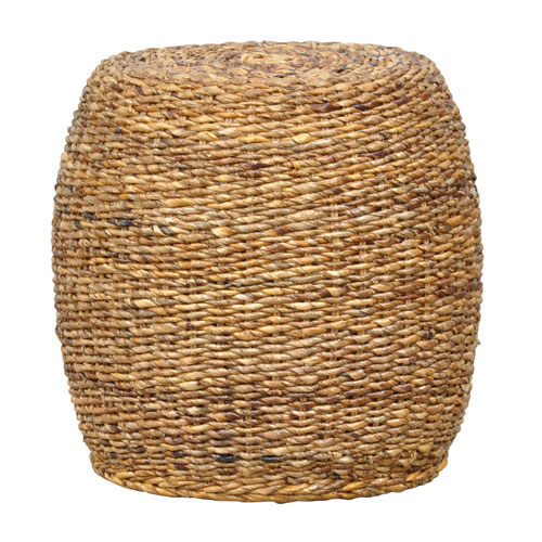 Ali Round Rattan Abaca End Table