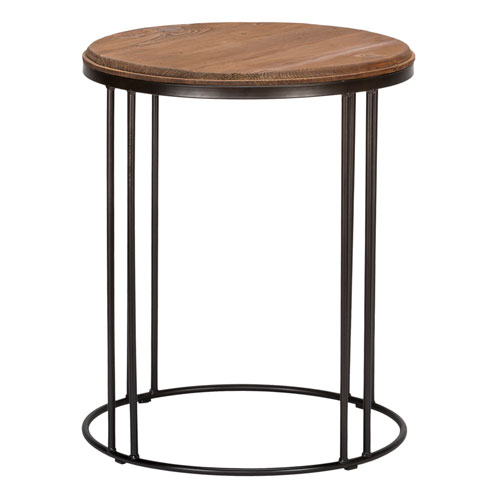 Beckett Distressed Mahogany Reclaimed Pine End Table