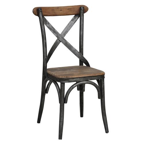 Ziva Oak Brown Side Chair