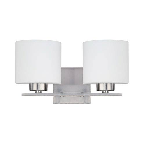 Nicollet Brushed Nickel Two-Light Bath Sconce