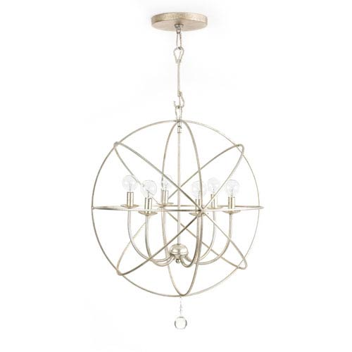 251 First Linden Brushed Silver Six-Light Chandelier