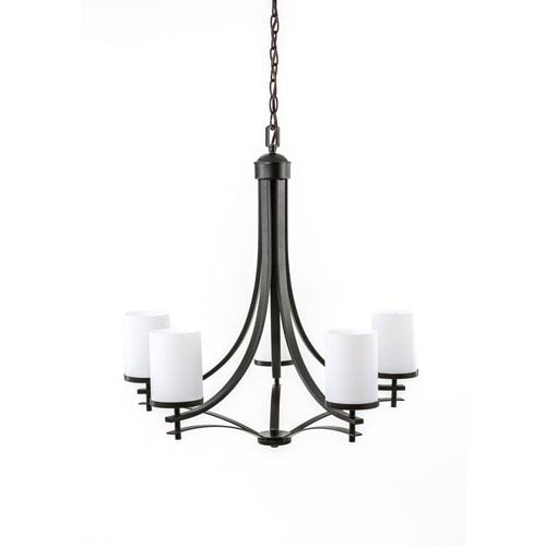 Nicollet Bronze Five-Light Chandelier