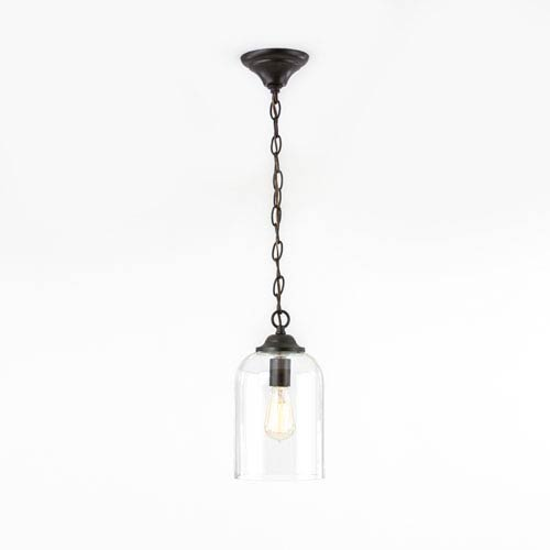 Afton Bronze One-Light Mini Pendant