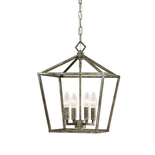 251 First Kenwood Antique Silver Four-Light Lantern Pendant
