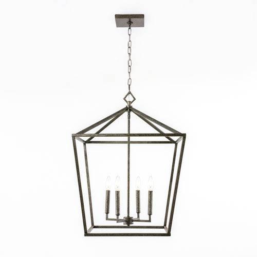 251 First Kenwood Antique Silver Four-Light Lantern Pendant