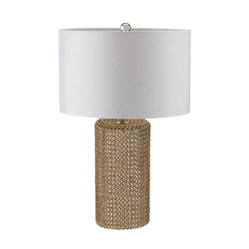 Linden Gold and Silver One-Light Table Lamp