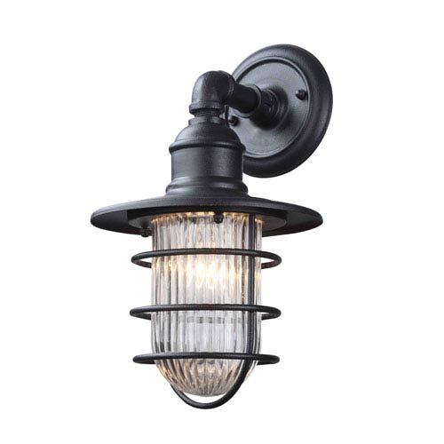 River Station Antique Iron One-Light Outdoor Wall Sconce