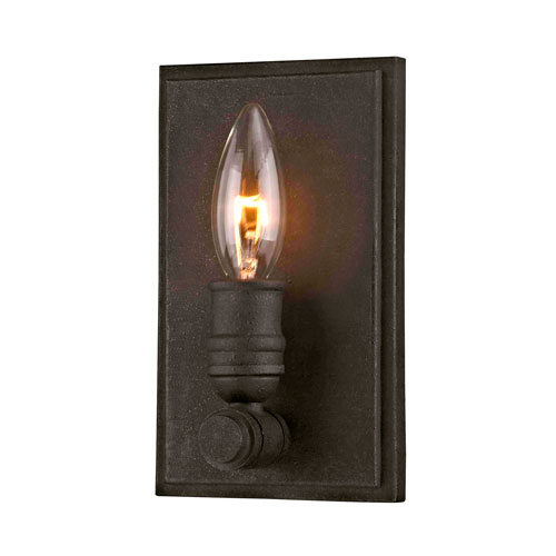 251 First River Station Textured Bronze One-Light Wall Sconce