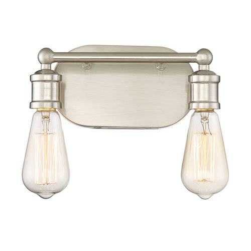 251 First Afton Brushed Nickel Two-Light Industrial Vanity