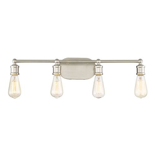 251 First Afton Brushed Nickel Four-Light Industrial Vanity