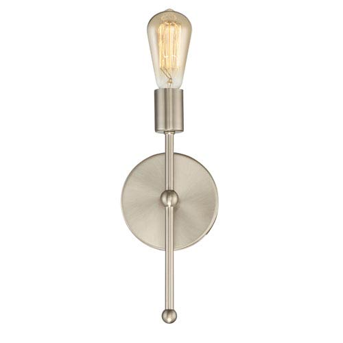 251 First Whittier Satin Nickel One-Light Wall Sconce