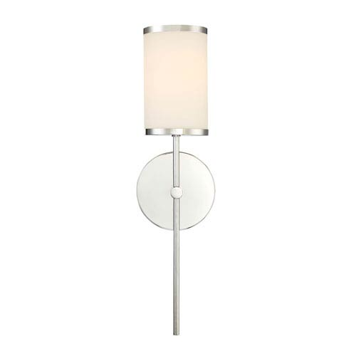 251 First Nicollet Chrome One Light Wall Sconce With Etched Opal Gl Shade