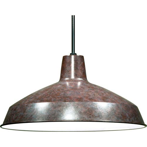 Hayden Galvanized Bronze One-Light Pendant with Warehouse Shade