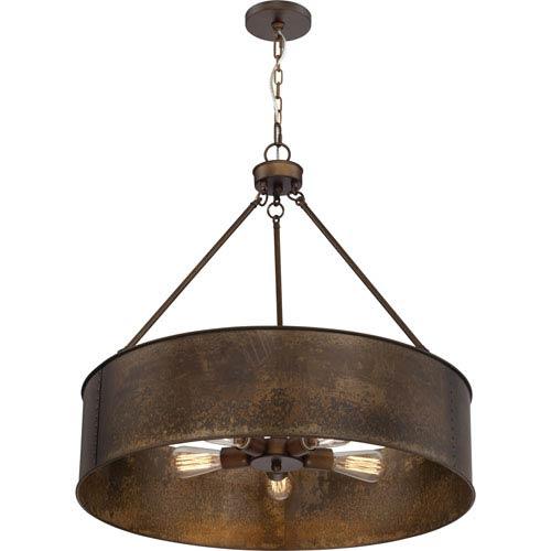 drum lighting pendant. River Station Weathered Brass Five-Light Industrial Drum Pendant Drum Lighting Pendant
