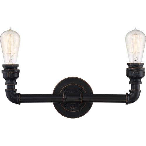 251 First Fulton Bronze Two-Light Industrial Vanity