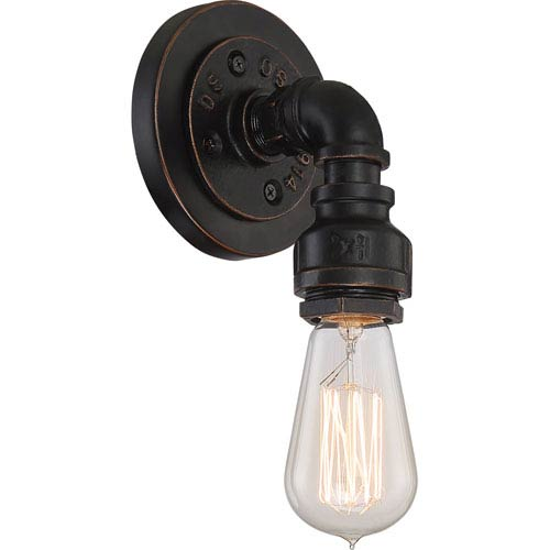 251 First Fulton Bronze One-Light Industrial Bath Sconce
