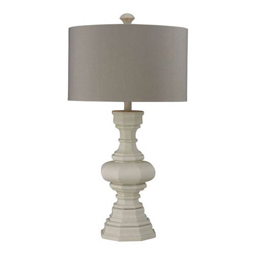 Country table lamps floral table lamps bellacor grace parisian plaster table lamp with light gray shade aloadofball Images