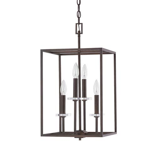251 First Loring Bronze Four-Light 12-Inch Pendant