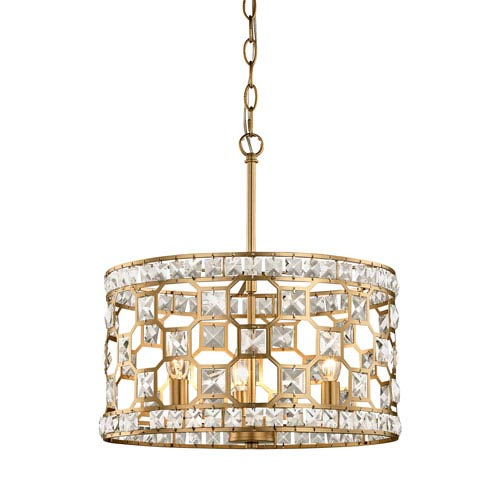 251 First Vivian Champagne Gold Three-Light Pendant