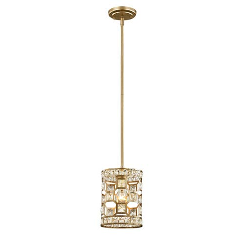 Vivian Champagne Gold One-Light Mini Pendant