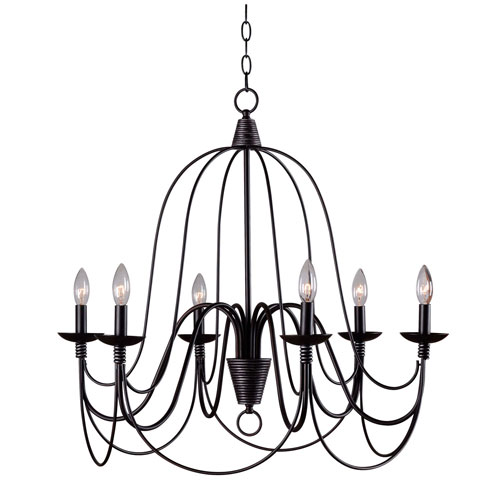 Aster Oil Rubbed Bronze Six-Light Chandelier