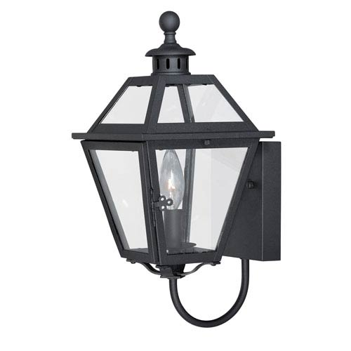 Bryant Textured Black One-Light Outdoor Wall Mount