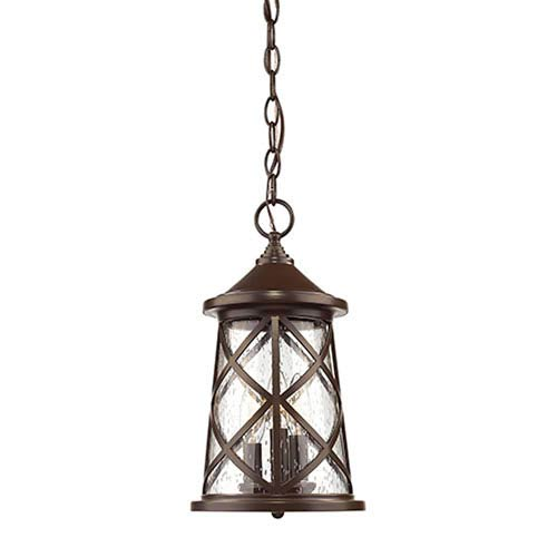 Eloise Powder Coat Bronze Three-Light Outdoor Pendant