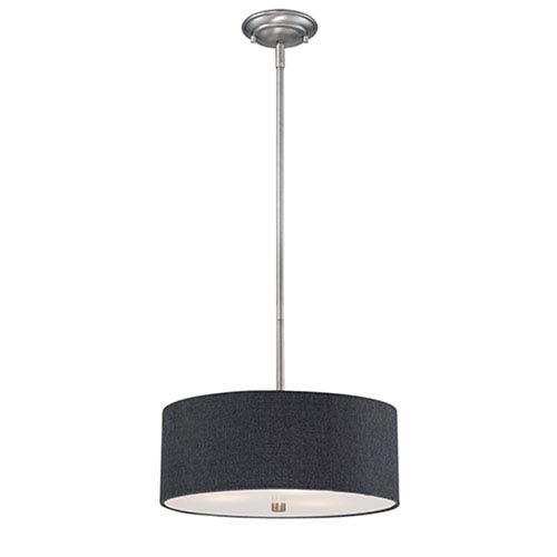 Lyndale Rubbed Bronze 15-Inch Three-Light Pendant