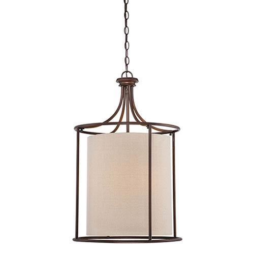 Lyndale Rubbed Bronze 20-Inch Three-Light Pendant