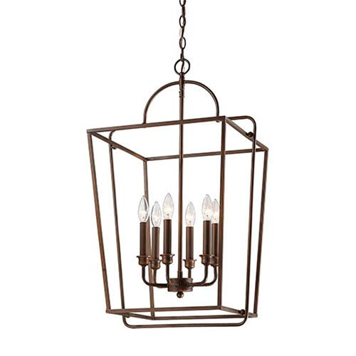 Lyndale Rubbed Bronze Six-Light Pendant