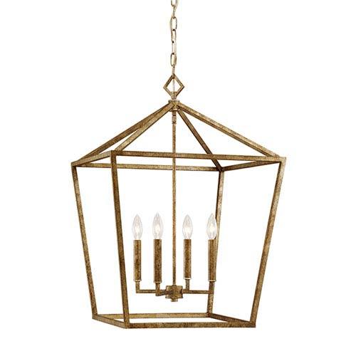Kenwood Vintage Gold Four-Light Pendant