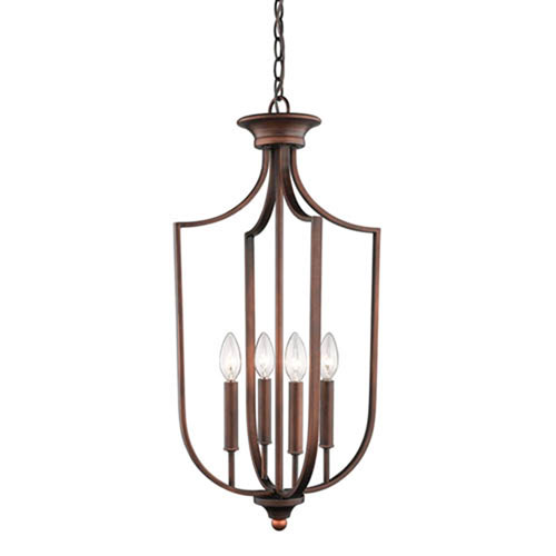 Isles Rubbed Bronze 14-Inch Four-Light Pendant
