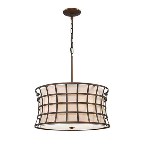 Whitter Rubbed Bronze Five-Light Pendant