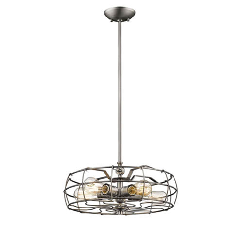 River Station Brushed Pewter Five-Light Pendant