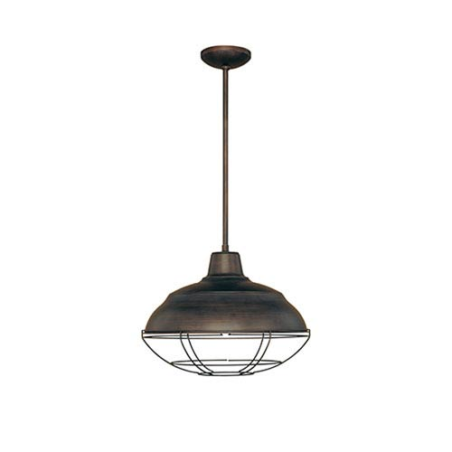 Revolution Rubbed Bronze 17-Inch One-Light Outdoor Pendant