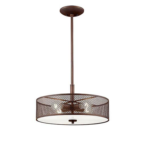 Finn Rubbed Bronze Four-Light Pendant