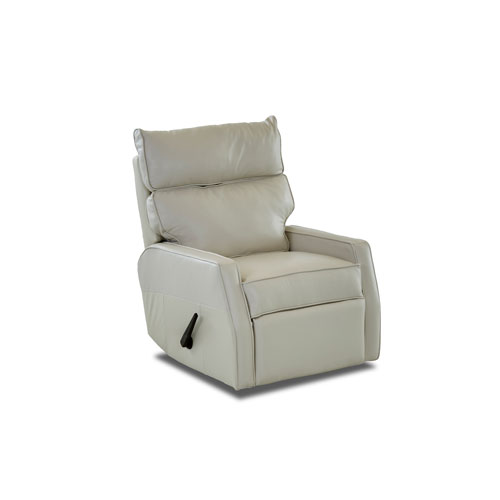 251 First Evelyn Oatmeal Leather Reclining Rocking Chair