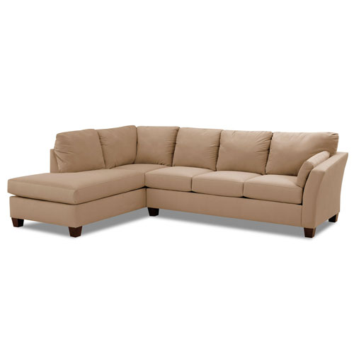 Afton Sectional Left Sofa, Right Chaise Microsuede- Onyx