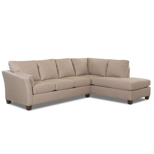 Afton Sectional Right Sofa, Left Chaise Microsuede- Charcoal