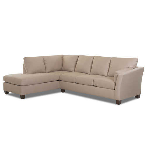 Afton Sectional Right Sofa, Left Chaise Microsuede- Chocolate