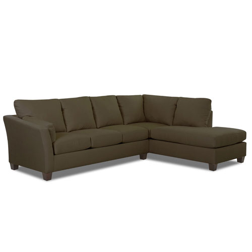 Afton Sectional Right Sofa, Left Chaise Microsuede- Straw