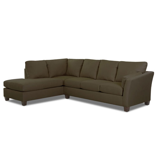 Afton Sectional Right Sofa, Left Chaise Microsuede- Thyme