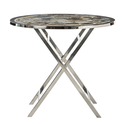 Silver, and Petrified Agate Butler Table