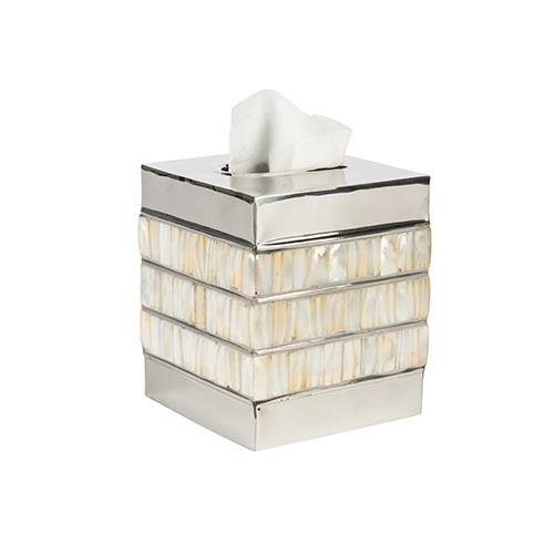 Bradburn Gallery Bone and Silver Tissue Box