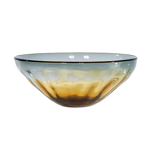 Sunrise Amber and Grey Decorative Bowl