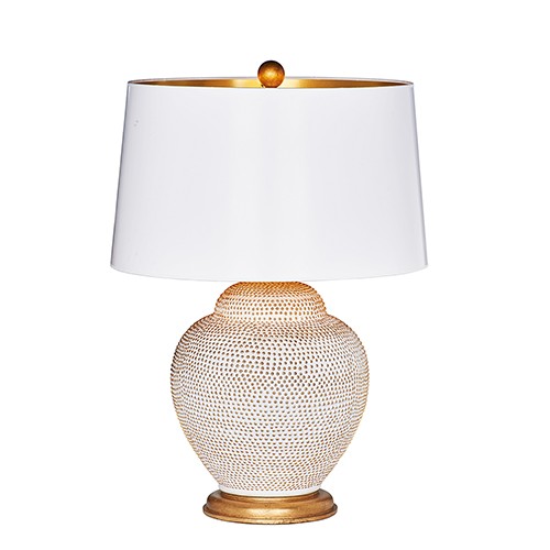 Santa Catalina Now Cream and Gold One-Light Table Lamp